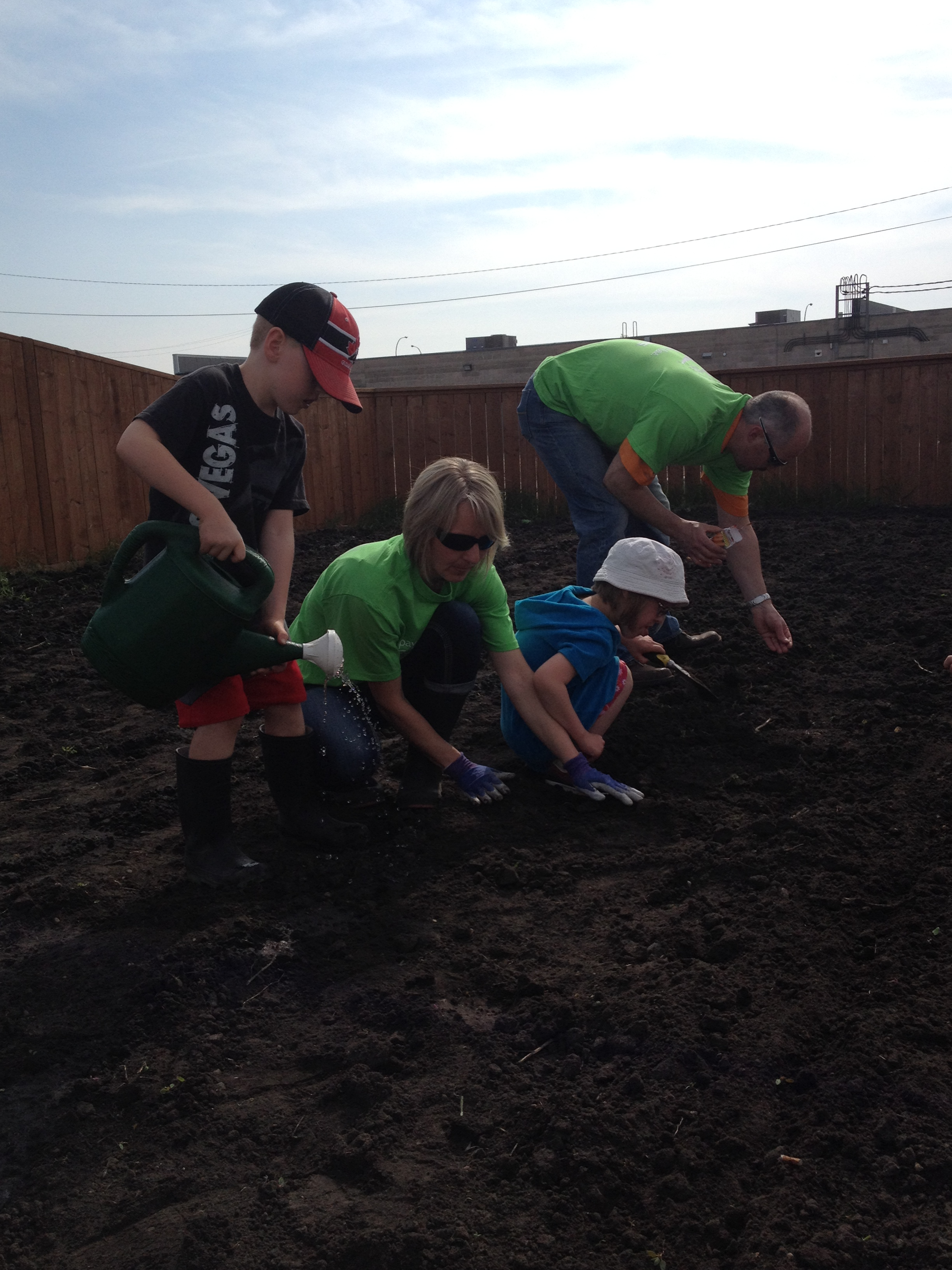 WCF Board members & families Paying it Forward through Gardening for Central Station
